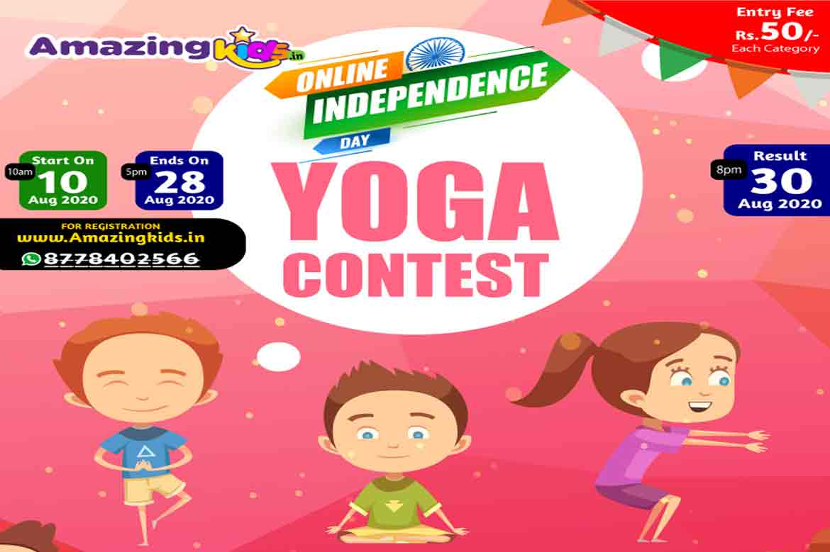 Online Independence day yoga contest 2020: by Amazing kids